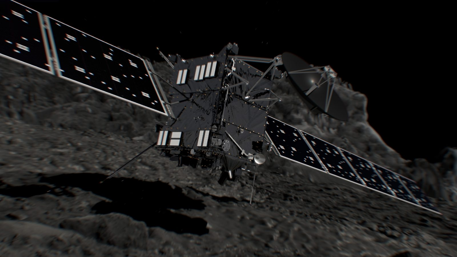 fantáziakép a Rosetta becsapódásáról: ESA/ATG medialab